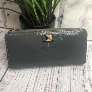 Kate Spade space gray wallet